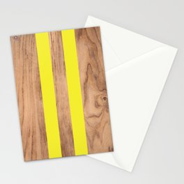 Wood Grain Stripes - Yellow #255 Stationery Cards