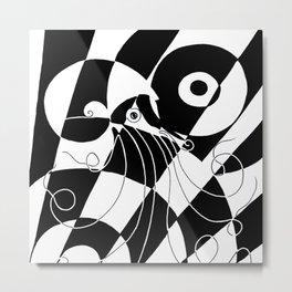 Midcentury Modern Nautilus Metal Print