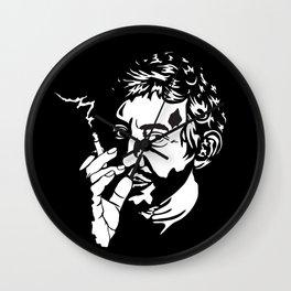 Serge Gainsbourg monochrome print. Wall Clock