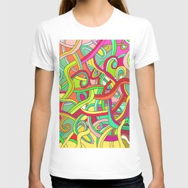 Color curved lines 2 T-shirt