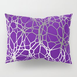 Pattern and Light purple silver Pillow Sham