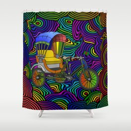 Psychedelic Rickshaw Shower Curtain