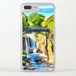 Paterson Great Falls in National Historical Park Clear iPhone Case