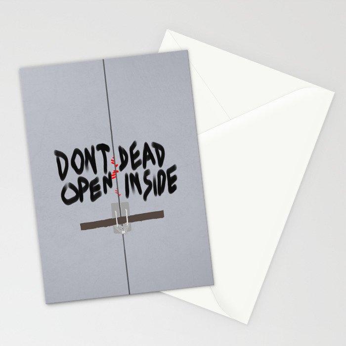 Don't Open Dead Inside, Walking Dead  Stationery Cards