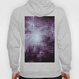 Nebula Pixels Dark Plum Purple Hoody