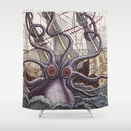 Mythical Giant Octopus  Shower Curtain