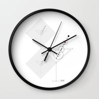 martini Wall Clocks featuring MARTINI by BIGEHIBI