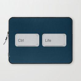 Ctrl + Life Laptop Sleeve