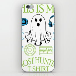 Funny Halloween Spooky Ghost Hunting Specter Hunter Shirt iPhone Skin