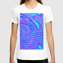 GLITCH MOTION WATERCOLOR OIL T-shirt
