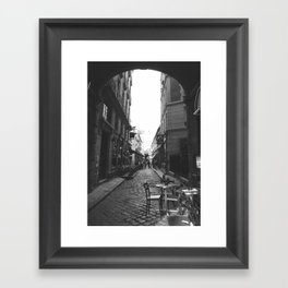 Ancient History: B&W Paris Collection #4 Framed Art Print