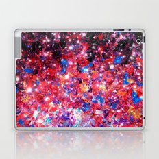 WRAPPED IN STARLIGHT Bold Colorful Abstract Acrylic Painting Galaxy Stars Pink Red Purple Ombre Sky Laptop & iPad Skin