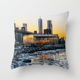 Winter in NY Throw Pillow