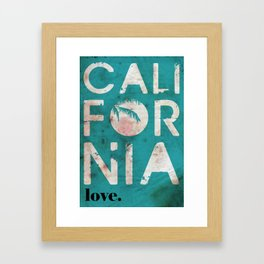 California Framed Art Print