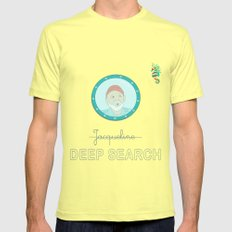 Deep Search Mens Fitted Tee Lemon SMALL