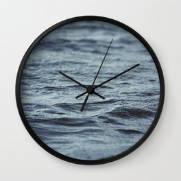 Carved Waves Wall Clock