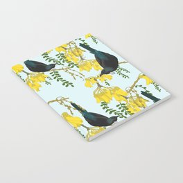 Tuis in the Kowhai Flowers Notebook