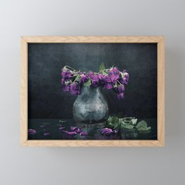 It Started With A Flower Framed Mini Art Print