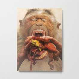 No More Fast Food Metal Print
