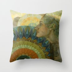 Ghost of Day Throw Pillow