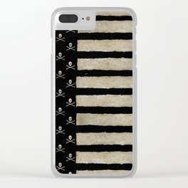 Skulled & Striped Clear iPhone Case