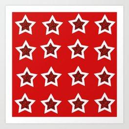 red star 6 Art Print