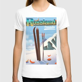 Rossland Canada travel poster T-shirt