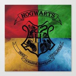 Hogwarts House Crest HP Canvas Print