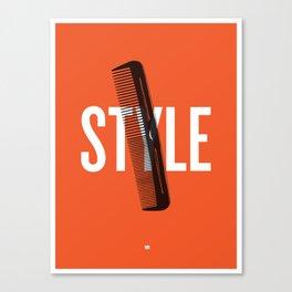 Barbershop Design Ethos / Style Canvas Print