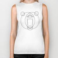 bear Biker Tanks featuring Bear by Alvaro Tapia Hidalgo