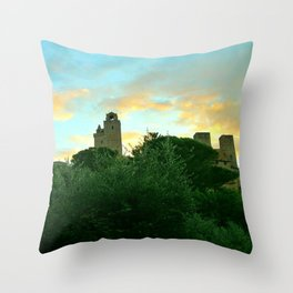 The towers of San Gimignano, Italy Throw Pillow