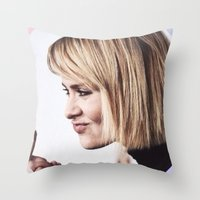 sarah paulson Throw Pillows featuring Sarah Paulson aka baddest bitch in town  by IrasHorrorStory