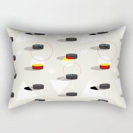 Pucks & Geometries #society6 #hockey #sport Rectangular Pillow