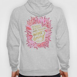 Zelda Fitzgerald – Pink on White Hoody