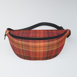 Red Gold Black Paid Pattern Fanny Pack