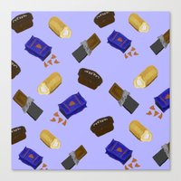 junk food Canvas Prints featuring Junk Food by Danielle Davis