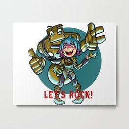 Steampunk Team! Metal Print