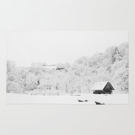 Winter Forest (Black and White) Rug