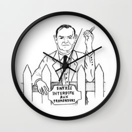 Evelyn Waugh Wall Clock