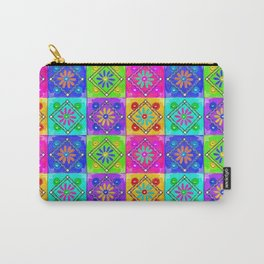 Boho Tapestry Tiles in India Silk Multi Carry-All Pouch