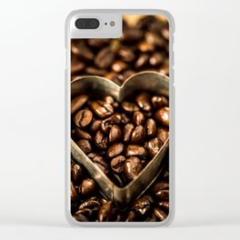 I Heart Coffee Clear iPhone Case