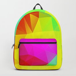 Geometric Colour Burst Backpack