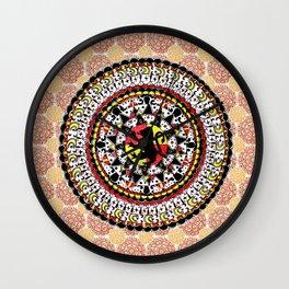Gryffindor Orange and Maroon Mandala Wall Clock