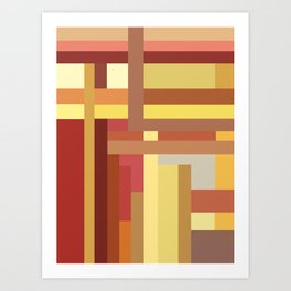 Marigold Stripes Art Print