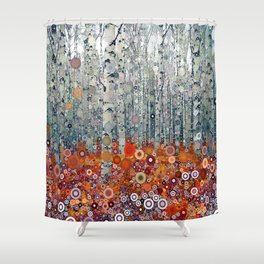 :: Run Free Woods :: Shower Curtain