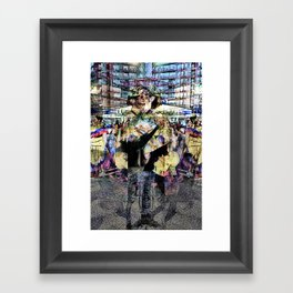 reflection ultimately becomes identity Framed Art Print