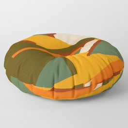 A New Way Of Seeing Abstract Landscape Floor Pillow