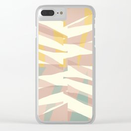 Whisper abstract art Clear iPhone Case