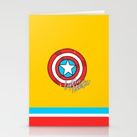 shield Stationery Cards featuring Shield by Chelsea Herrick