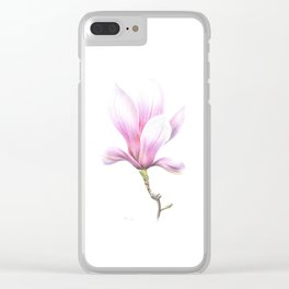 Magnolia Susan drawing Clear iPhone Case